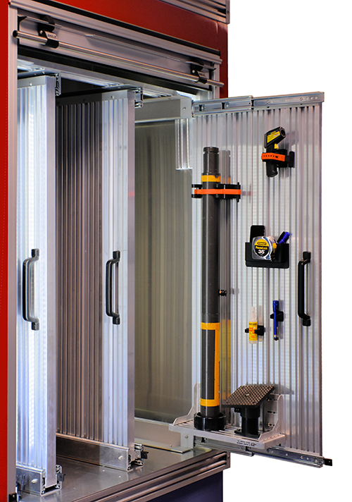 Vertical Side Wall Slide Out Tool Board