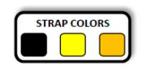 Strap Colors Black Yellow Orange